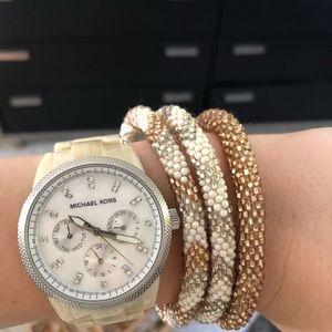 Michael Kors Bone Colored Watch